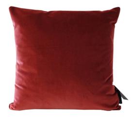 Sierkussen Velvet Raspberry Rood 45x45cm