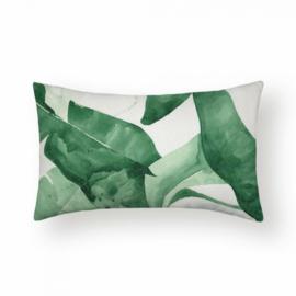 Sierkussen Palm Serena Long Groen 30x50cm