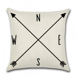 Sierkussen Arrow NESW Zwart 45x45cm