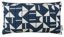 Sierkussen Cronicle Blauw/Wit 50x30cm