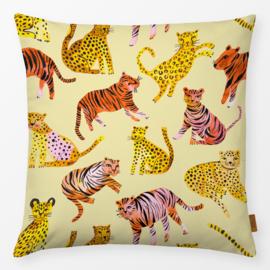 Kinderkussen Tijgers en Luipaarden Geel