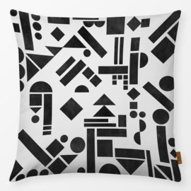 Sierkussen Geometry 1 Zwart/Wit