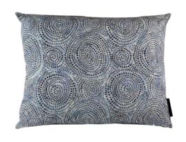 Sierkussen Batik Cotton Dark Lichtblauw/Beige 50x40cm