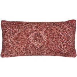 Sierkussen VKW Glorieusement 'Cimarosa' Rood 70x35cm