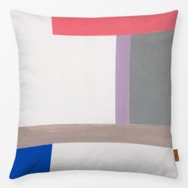 Sierkussen Oppervlakken Colorees Wit/Multikleur