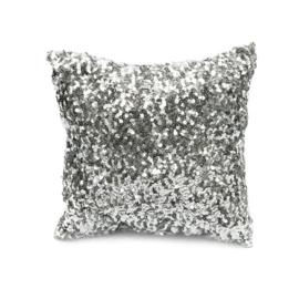 Sierkussen'The Glitter' Zilver 40x40cm