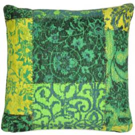 Sierkussen Patchwork VKW Prestigieux 'Metanoia' Groen 45x45cm