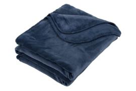 Plaid Horsestitch Throw Blue Blauw 130x170cm