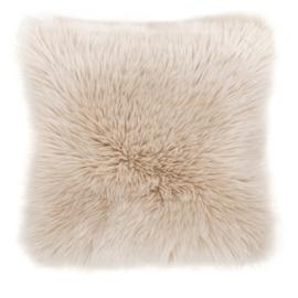 Sierkussen Long Haired Creme 45x45cm
