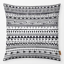 Sierkussen Black and White 3 Zwart/Wit