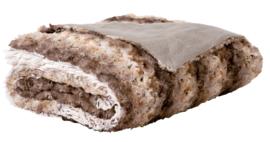 Plaid Patch Bruin/beige 150X200cm