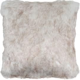 Sierkussen Donsie Wit/Crème 60x60cm