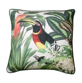 Sierkussen Tropical Toucan Multikleur/Groen 45x45cm