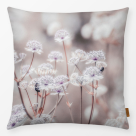 Sierkussen Wildflowers Beige/Bruin/Paars
