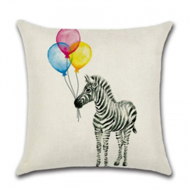 Sierkussen Ballon Zebra Multikleur 45x45cm