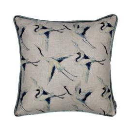 Sierkussen Blue Bird Blauw 50x50cm