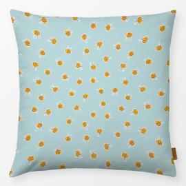 Sierkussen Bijen Bijen Geel/Turquoise