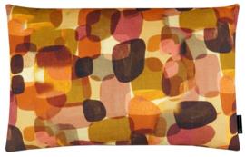 Sierkussen Pebbles Lin Bruin/Oker 60x40cm