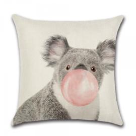 Sierkussen Animal Party Koala Roze 45x45cm