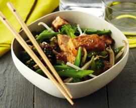 Gewokte groenten met of zonder tofu