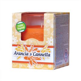 Geurkaars Arancia & Cannella (sinaasappel en kaneel, 140 gram)