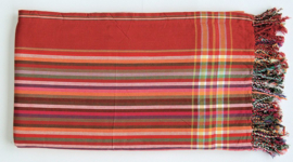 Kikoy towel red and stripes