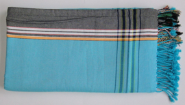 Kikoy towel Turquoise and black