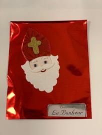 Folie zakje met 50 gram Sinterklaas chocolade
