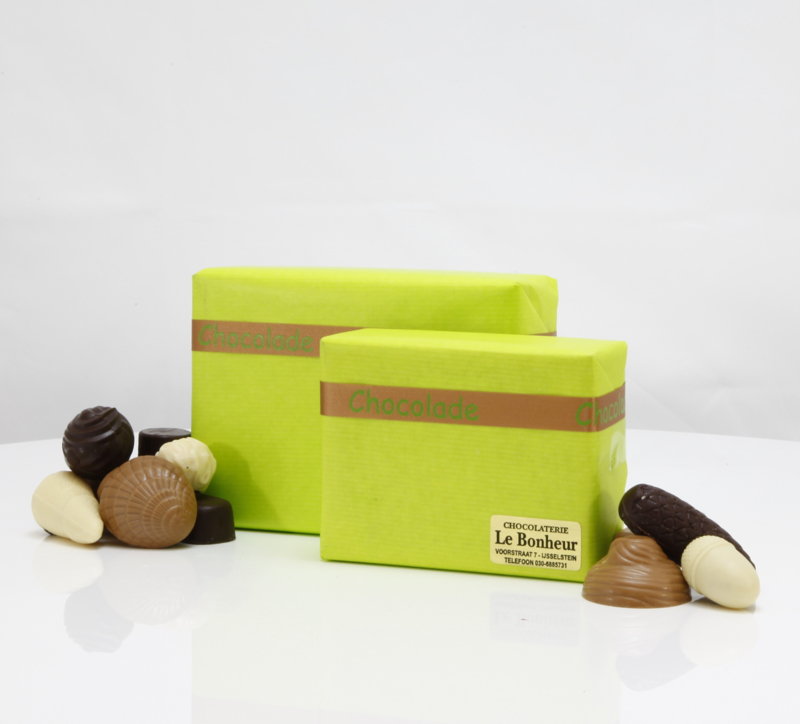 Roze La Bohème doos met 500 gram luxe bonbons