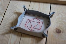 Mini dicetray zalm/rood