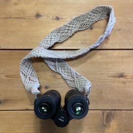Macramé draagband voor camera of verrekijker