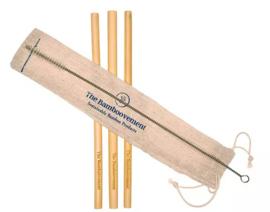 Bamboovement rietjes met schoonmaakborsteltje