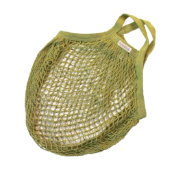 Bo Weevil net bag short handle organic cotton lime