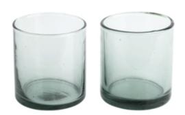 Return to Sender - 2 glazen van gerecycled glas