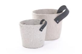 Rescued Paper pot grey 2 stuks