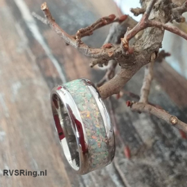 Bandring Witte Opaal