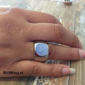 Moedermelk Ring Breed Blauw