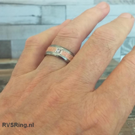 DNA Ring Roze Opaal