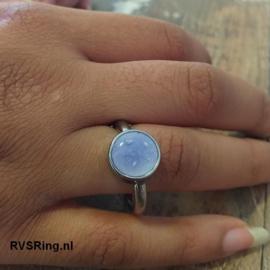 Moedermelk Ring Blauw