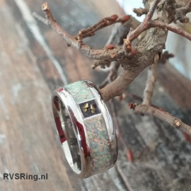 DNA Ring Witte Opaal