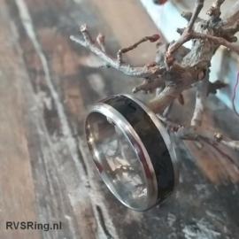 Zwarte Stalen Ring