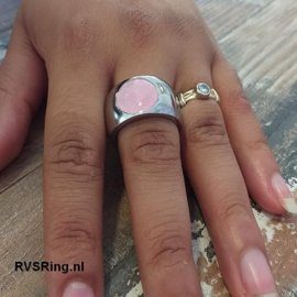 RVS Moedermelk Ring Roze