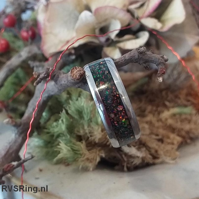 Bandring Zwarte Opaal