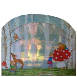 Silhouet Lamp Hertje in het bos