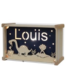 Nachtlamp Dinosaurus (de luxe) met naam