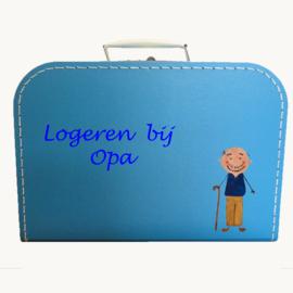 Koffertje opa logeerkoffertje