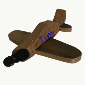 Vliegtuig Steigerhout met Naam