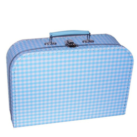 Kinderkoffertje Ruit blauw