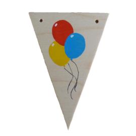 Naamslinger houten vlag ballonnen