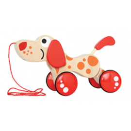 Houten Trekdier Hondje Pepe